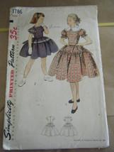 Vintage 1950's Simplicity 3786 Girl's Dress Pattern - Size 7 - $8.91