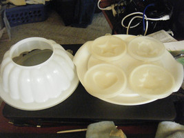 Tupperware 616-4 Gelatin Mold & Plate 617-3 w/4 Different Lid Designs - $17.31