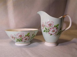Royal Albert Bone China Wild Rose Open Sugar & Cream Pitcher Friendship Series - $17.98