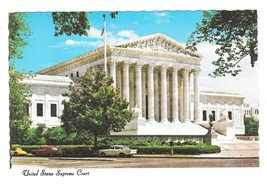 United States Supreme Court Building Washington DC Vtg Postcard 4X6 - $4.99