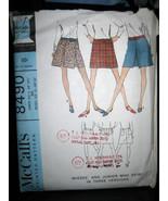 Vintage McCall's #8490 Junior/Misses Mini-Skirt Pattern - Sizes 9 & 10 - $8.02