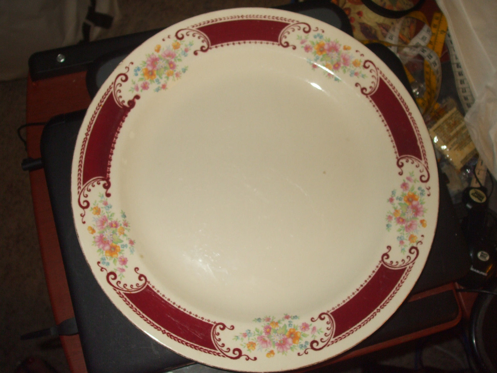 "Primary image for Vintage Homer Laughlin Majestic Brittany 13"" Round Platter"