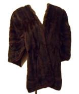 Chestnut Brown Fur stole with hat vintage - $30.00