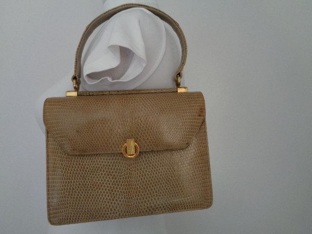 Vintage BELLESTONE Timeless Beauty Genuine Lizard Skin 50s 60 Vintage Handbag