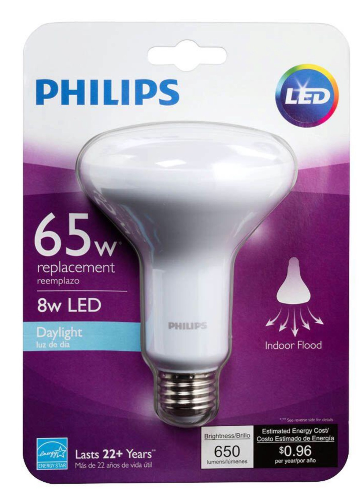 4 bulbs philips 457082 65w equivalent daylight 5 000k. Black Bedroom Furniture Sets. Home Design Ideas