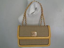 1990s ANNE KLEIN 2-Tone Pastel YELLOW Purse Handbag Fashion Accessory  - $125.78
