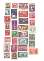 US American Stamp Collection Lot from 1920s 30s & 1940 Unused  - $38.34