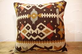 Kilim Pillows | 16x16 | Turkish pillows | 30 | Accent Pillows , kilim cu... - $42.00
