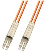 15M Multimode Duplex Fiber Optic Cable (50/125) - LC to LC - $18.50