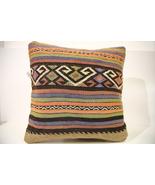 Kilim Pillows | 16x16 | Turkish pillows | 40 | Accent Pillows , kilim cu... - $42.00