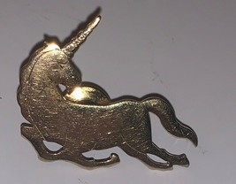 "Vintage Gokd Tone Unicorn Pin By Avon 1.25"" Lapel Scatter Pin Fun - $7.39"