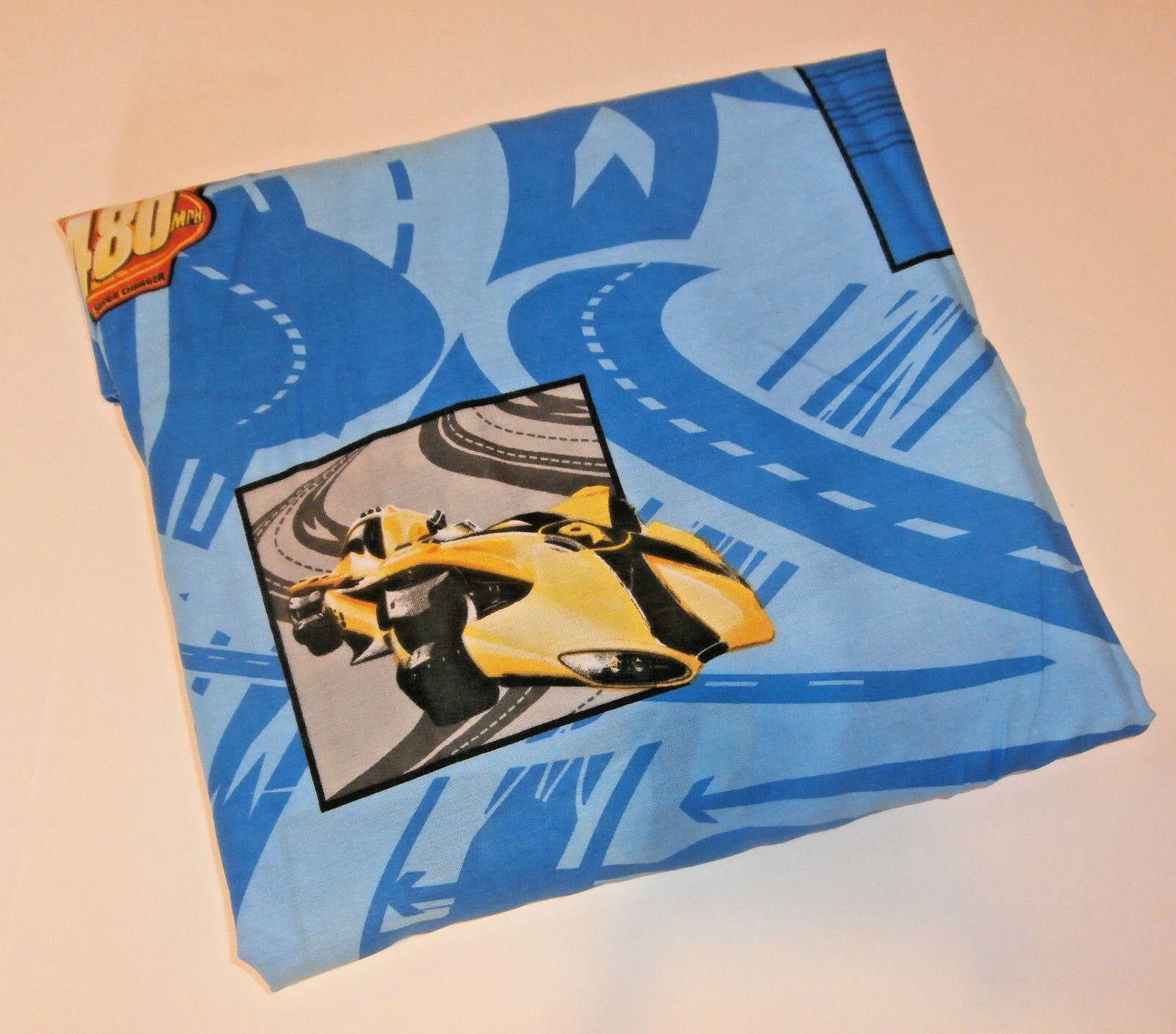 Speed Racer Twin Flat Sheet Cotton Blend Jay Franco  - $12.59