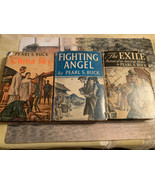 Lot of (3) PEARL S. BUCK Books -- The Exile , Fighting Angel, China Flig... - $24.74