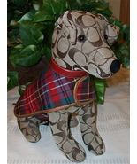 Coach Signature Stuffed Dog Jack Russell Terrier Toy JRT 8443 w/ Collar ... - $129.00
