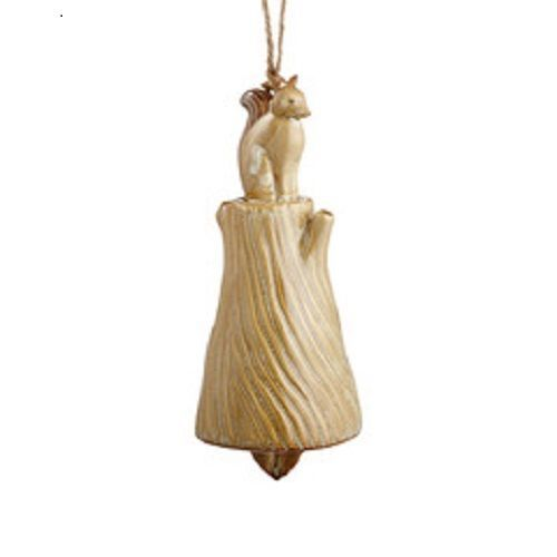 Department 56 Ceramic Fox wind chime bell Forest Lane