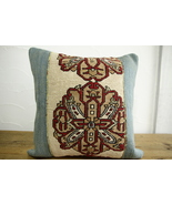 Kilim Pillows |16x16 | Decorative Pillows | 461 | Accent Pillows turkish... - $35.00