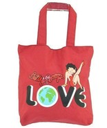 Betty Boop Fashion Jeans Cotton Tote Bag Purse Red Love Sexy Button Encl... - $25.73