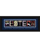 Western Washington Campus Letter Art Framed Print - $39.45