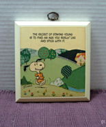 Vintage Hallmark SNOOPY Wood Plaque // RETRO Peanuts Characters // Novelty - $8.50