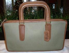 Coach Vintage Slim Satchel Compact Handle Clutch Handbag Twill 8425 (?) NYC - $79.00