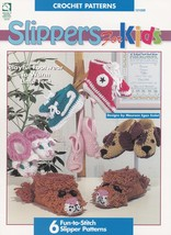 Slippers for Kids, House of White Birches Croch... - $12.95