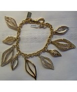 Coach Charm Bracelet Multi Leaves Leaf Gold Sto... - $89.00