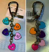 Coach Coh Hearts Keyring Key Fob Keychain Charm 93087 NWT  - $69.00