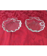 Two Shell Shaped Glass Dip DIshes - $5.99