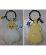 Coach Patent Leather Mink Fur Chick Chicken Keyring Key Fob Keychain 931... - $59.00