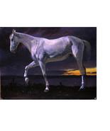"8x10"" Cotton Canvas Print, White Horse at Sunset, Albert Bierstadt, 1863... - $15.99"