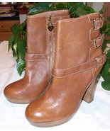 Juicy Couture Leather Boots Serena British Tan Brown 8.5 New - $44.00