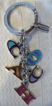 Coach Multi Letters Mix Keychain Key Fob 62741 C O A C H NWOT - $49.00