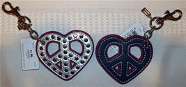 Coach Pop Stud Poppy Studded Peace Heart Charm 92743 NWT  - $49.00