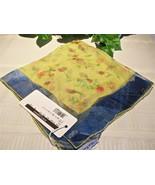 Dolce Gabbana Silk Scarf Floral Yellow Flower R... - $39.00