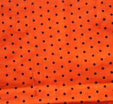Halloween Orange Black Polka Dots Fabric Hair Scrunchie Scrunchies by Sh... - $6.99