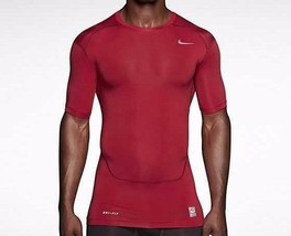 Nike Pro Combat Compression Short Sleeve Shirt Red Men's Extra Large XL ... - $27.04