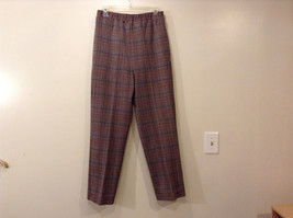 Appleseed's Women's Size 12 Business Casual Pantsuit Set Glen Plaid Black Brown image 7