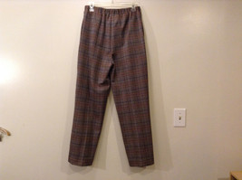 Appleseed's Women's Size 12 Business Casual Pantsuit Set Glen Plaid Black Brown image 8