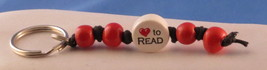 Keychain to Read Hand Crafted 100% Ceramic Bead... - $6.53