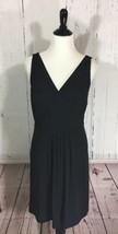 Ann Taylor Large Black Cross Cross Jersey Stretch Sleeveless Dress - $25.19