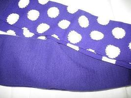 PURPLE with WHITE DOTS CLOWN SOCKS OVER KNEE SPORTS STYLE - $12.00