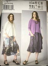 Vogue V9161 Marcy Tilton Loose Fit Top and Skirt Size XS-M or L-XXL Uncut - $19.18