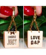 Juicy Couture Yorkie in Shopping Bag Charm 4 Br... - $35.00