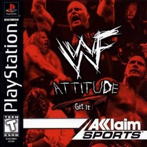 WWF Attitude PS1 Great Condition Complete Fast Shipping - $6.93