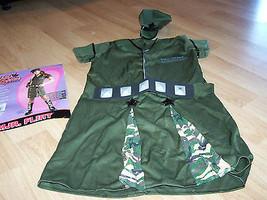 Size Tween Medium 2-4 Major Flirt Military Halloween Costume Dress Army ... - $24.00