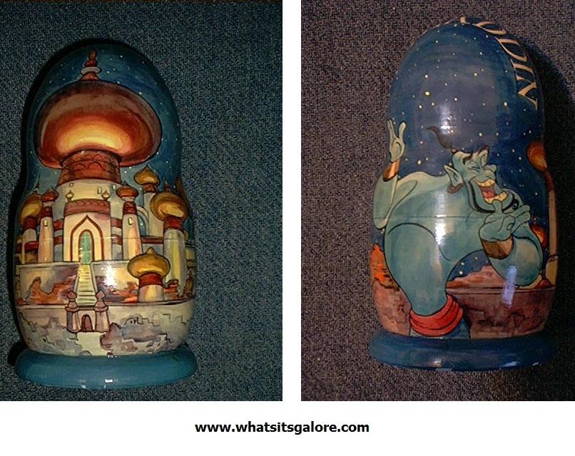 Walt Disney ALADDIN RUSSIAN NESTING DOLLS matrushka