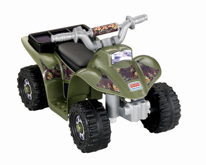 Four Wheelers With Rims : Power wheels camo quad four wheeler play ride on toy