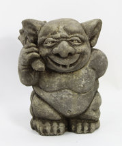 Ogre with Mace Ball Concrete Statue - $54.00