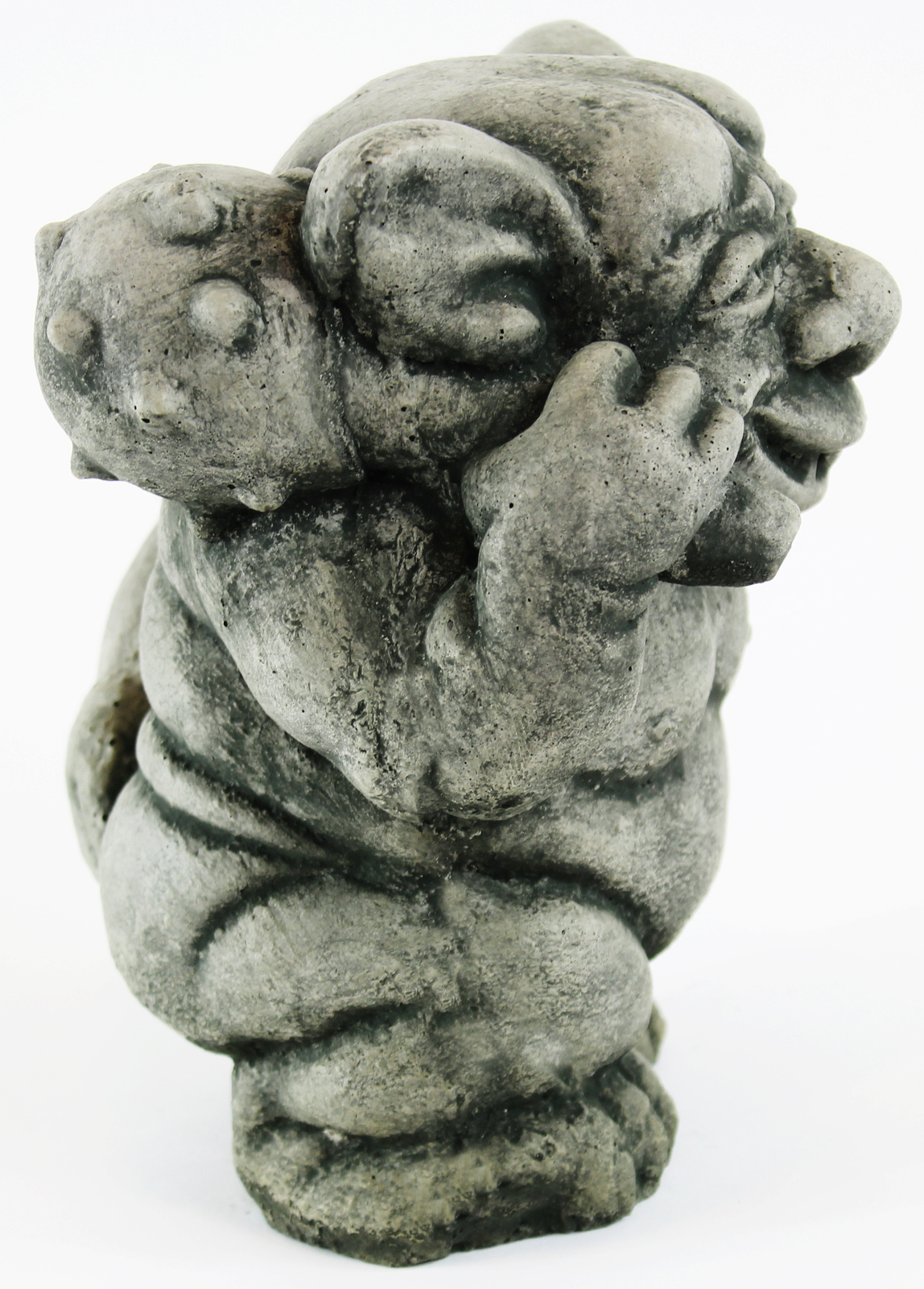 Ogre with Mace Ball Concrete Statue