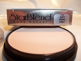 Mehron Star Blend Cake Pancake Water Base Stage Makeup Light Shades Professional image 1